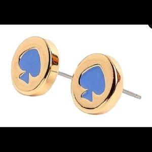 kate spade Spot the Spade Alice Blue Earrings
